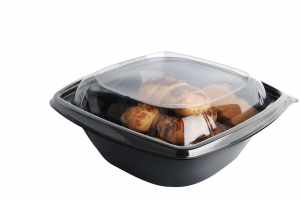 NEW!!! Salad Desert conused bowls with separate lids (750 ml.)