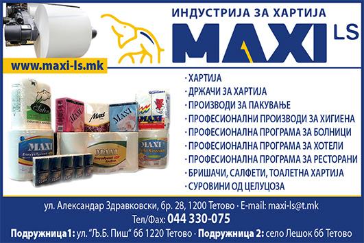 Maxi LS kolor hartija